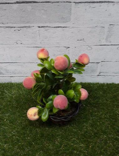 arranjo artificiais fruta pêssego cozinha restaurante junco
