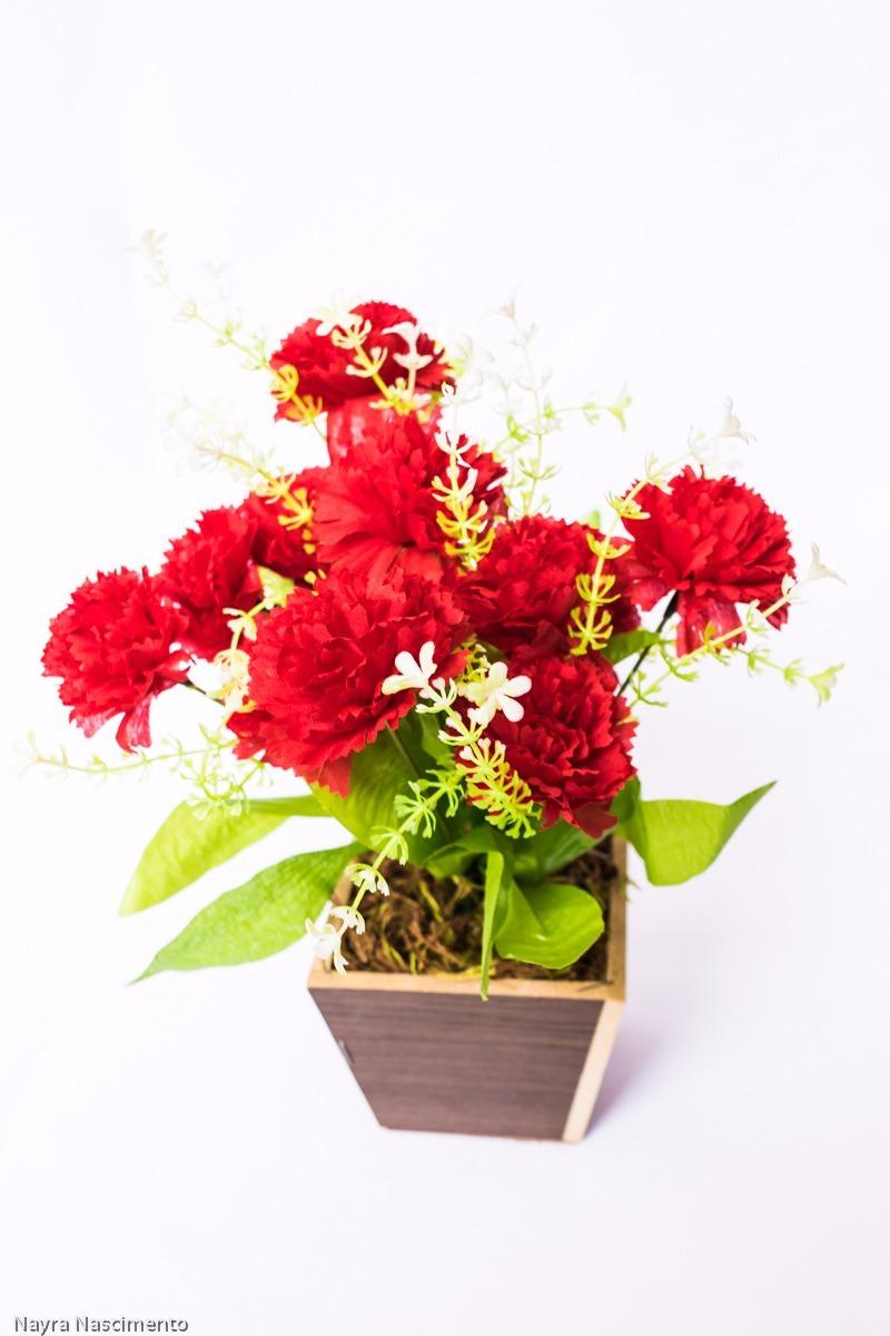 5cee34352 arranjo cravo  nk flores artificiais. Carregando zoom.