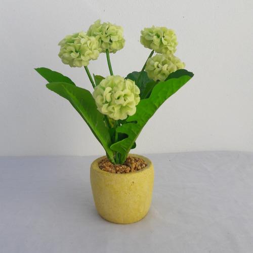 arranjo de flor artificial verde para decorar seu cantinho