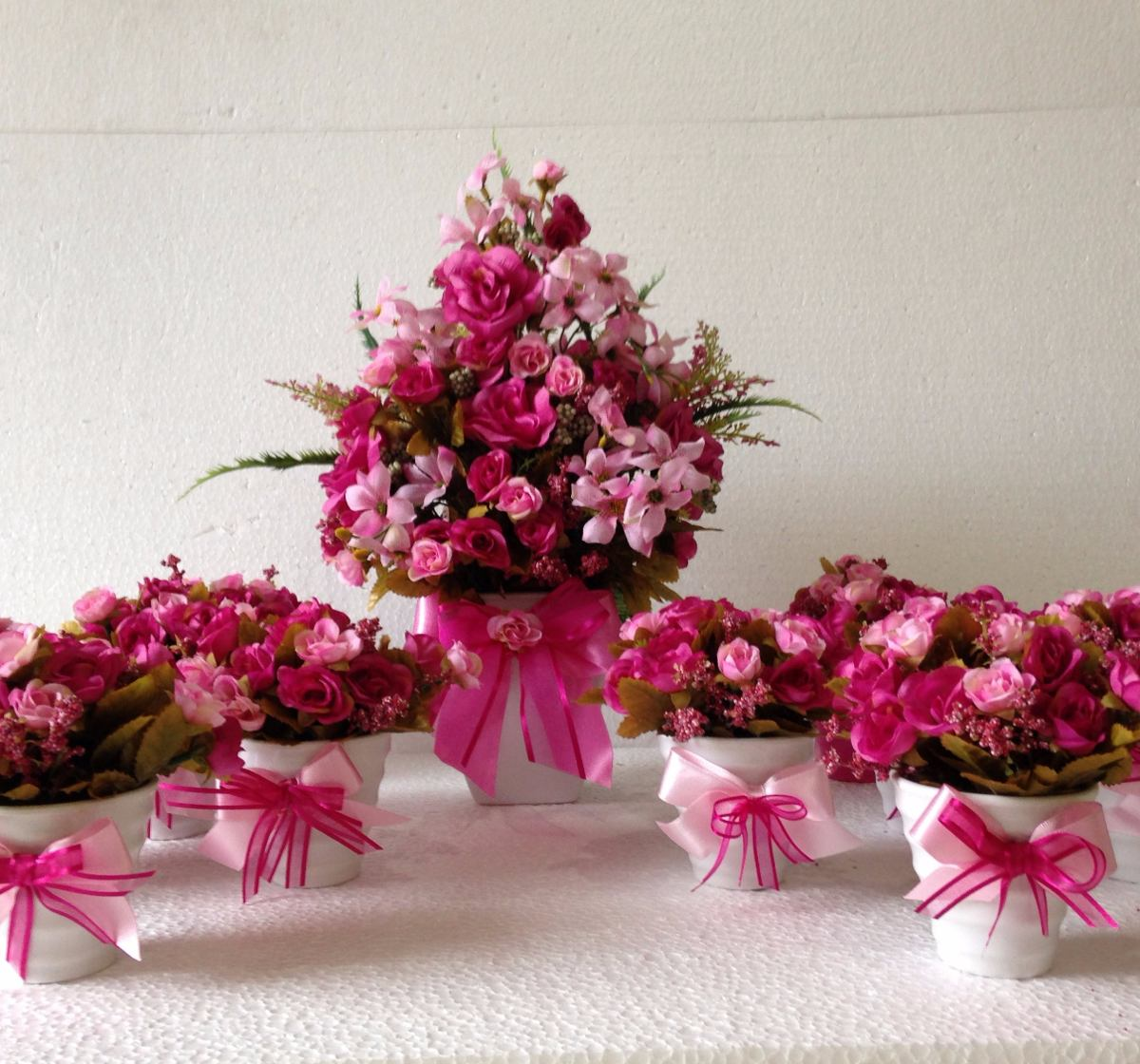 Arranjo De Flores Artificiais, Kit Para Festas R$ 650,00 em Mercado Livre -> Decoração Arranjos De Flores Artificiais