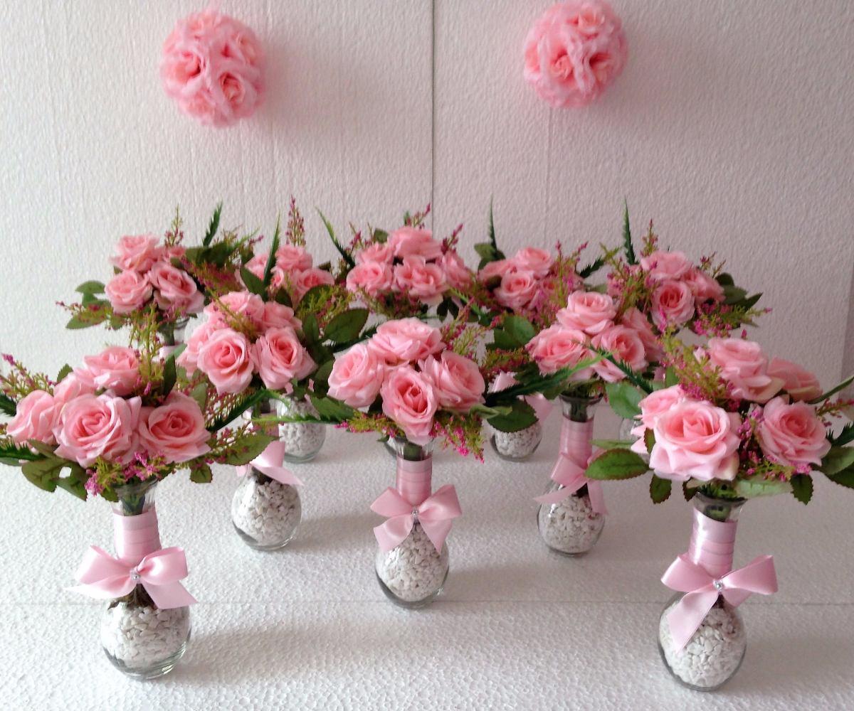 Arranjo De Flores Artificiais, Kit Para Festas R$ 390,00 em Mercado Livre # Decoração Arranjos De Flores Artificiais