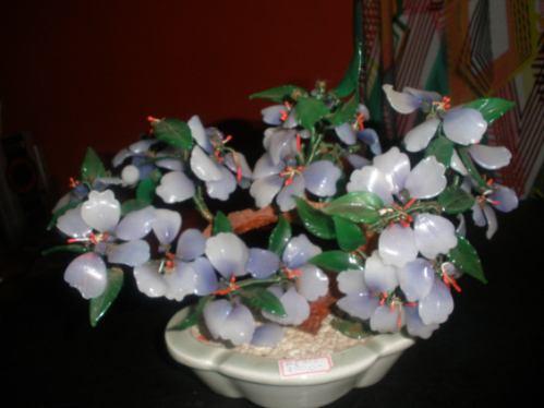 arranjo de flores - em pasta de vidro