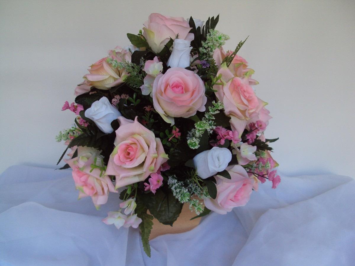 Arranjo de rosas centro de mesa r 120 00 em mercado livre - Centros de mesa de flores ...