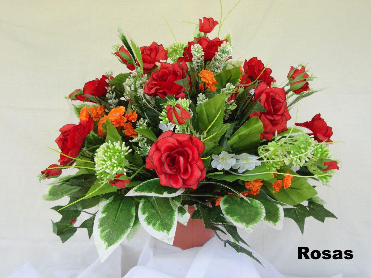 Arranjo floral flores artificiais de seda centro de - Centros de mesa de flores ...