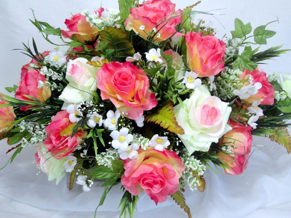 Arranjo Floral  Flores Artificiais De Seda  Dia Das Mães  R$ 150,00 em Mer -> Decoracao De Banheiro Com Flores Artificiais