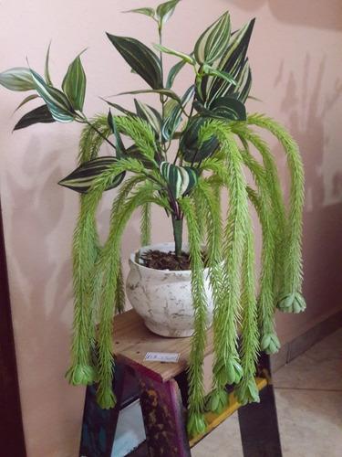 arranjo rabo de macaco plantas verdes artificiais