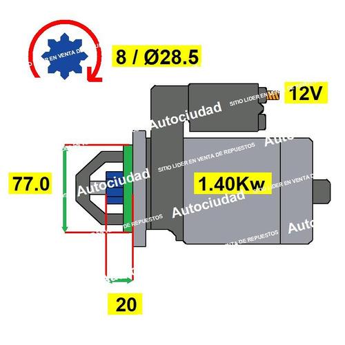 arranque hyundai h100 2.4 motor g4cs / 4g63 naftero cuotas