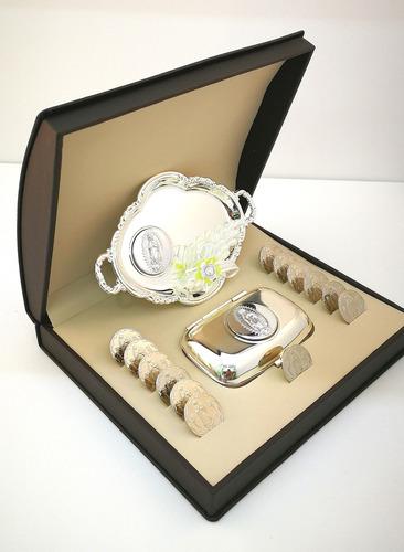 arras matrimoniales en plata/rodio