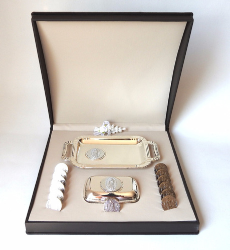 arras para boda en oro blanco laminado de 14k