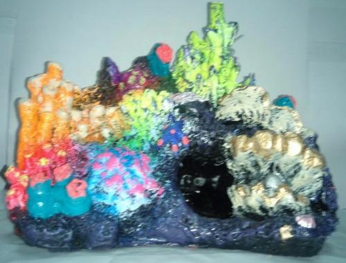 arrecife decoracion para peceras de resina recoje en la raza