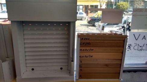 arreglo de cortinas de enrollar pvc aluminio madera