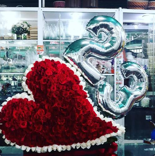 arreglo especial full rosas globos