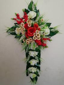Arreglo Flor Artificial Cruz Difunto Largo 90cm Extint