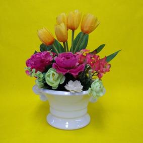 Arreglo Floral Artificial De Tulipanes Hortencias Y Peonias