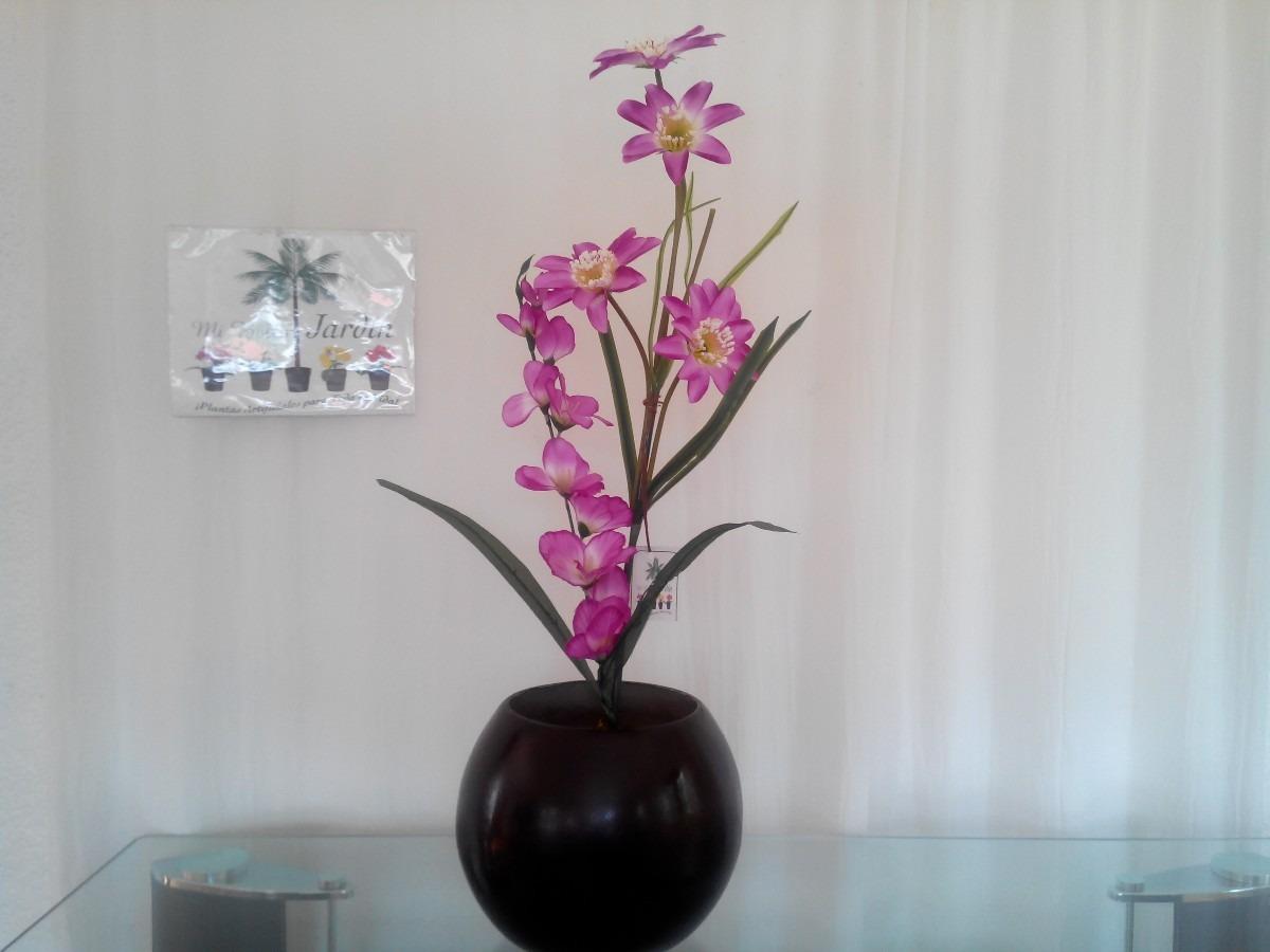 Arreglo floral artificial en maceta de fibra de vidrio mma 1 en mercado libre - Maceta fibra de vidrio ...