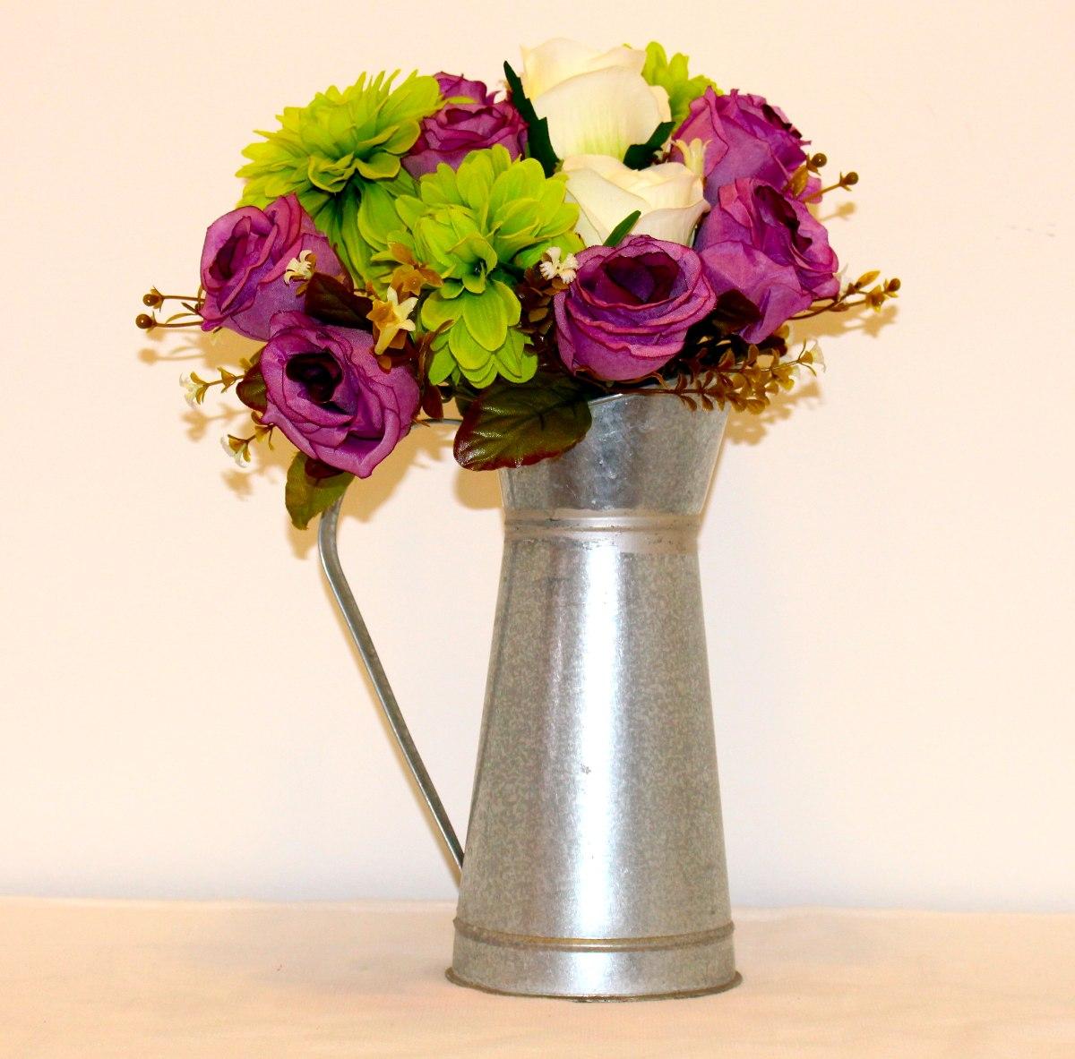 ddaeec3295e50 arreglo floral centro de mesa flores artificiales jarra. Cargando zoom.