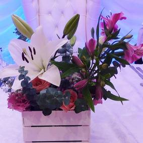 Arreglo Floral Centro De Mesa Ideal Eventos Y Fiestas