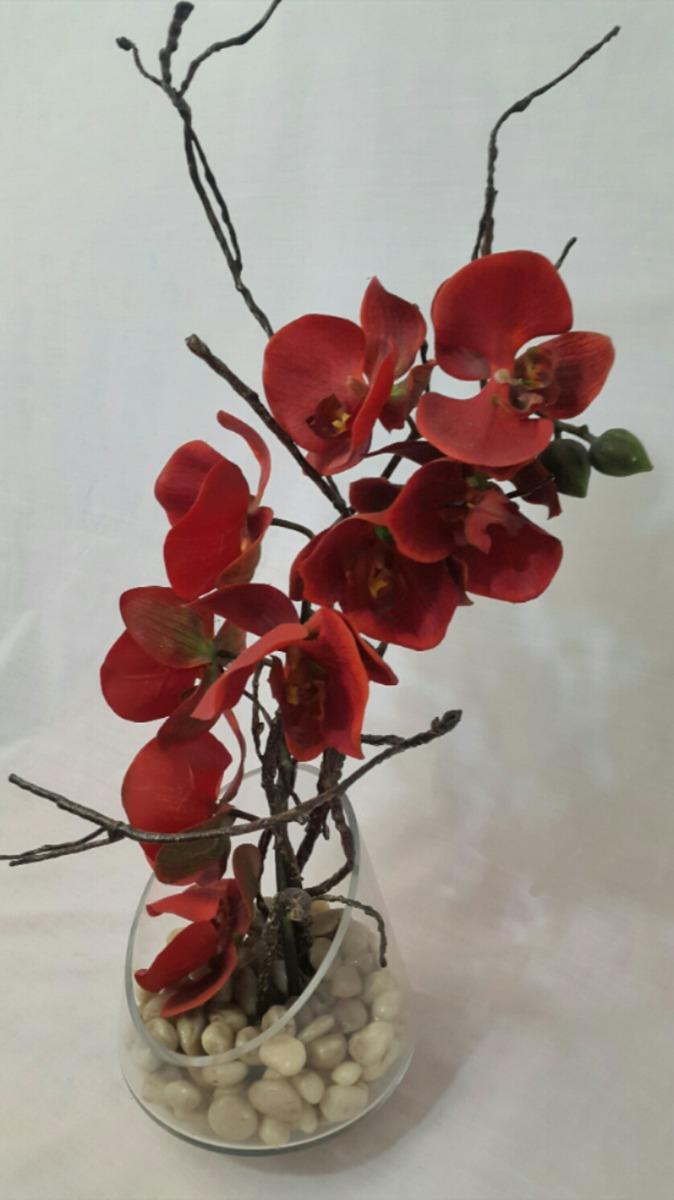 Arreglo Floral Con Orquídea Roja