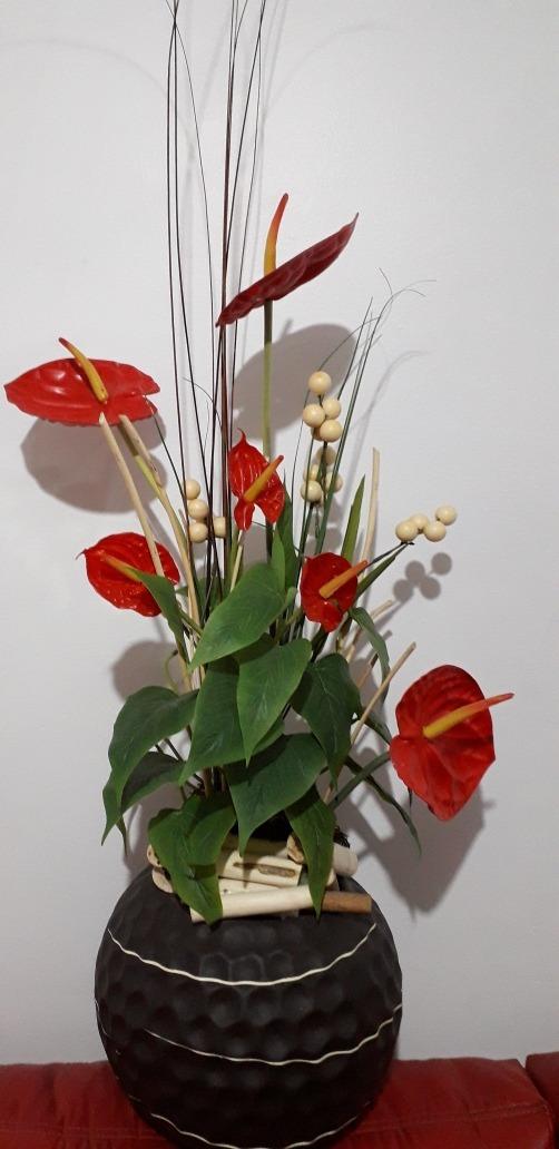 Arreglo Floral De Anthurios Artificiales Envíos Gratis