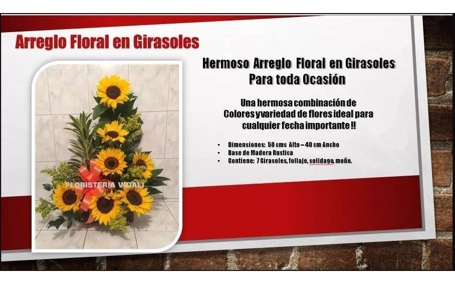 Arreglo Floral En Girasoles Envío Gratis
