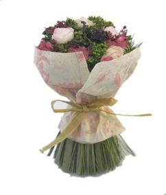 Arreglo Floral Fibras Naturales Y Artif A Mano