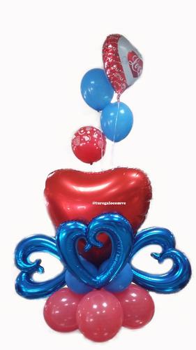 arreglo flores frutas desayuno peluche chocolat globos helio