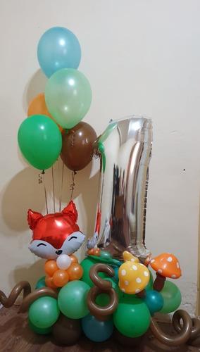 arreglo o bouquet de globos forma de numero mod 010 personal