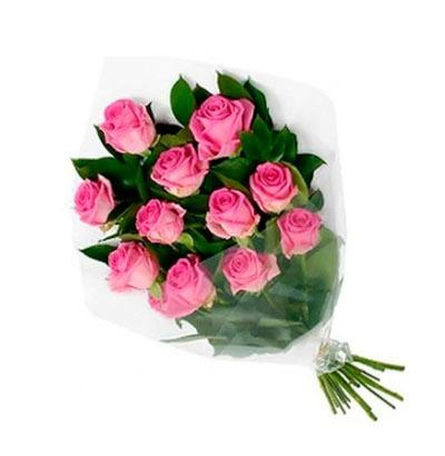 Arreglo Ramo 12 Rosas Rojas Blancas Rosadas Azul Arcoiris S 99