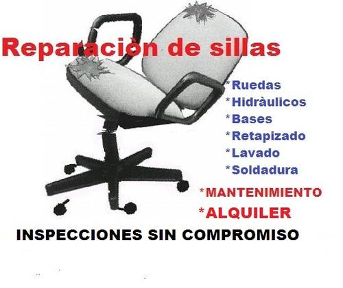 arreglo reparaciòn mantenimiento repuestos sillas de oficina
