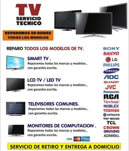 arreglo y reparación de smart tv en horas desde $7900 pesos