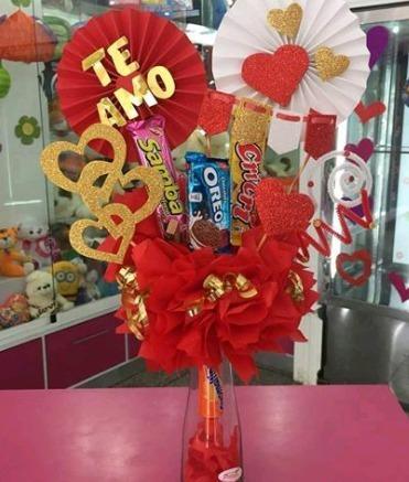 Arreglos con dulces 14 de febrero san valentin bs 8 50 for Arreglos de mesa con dulces