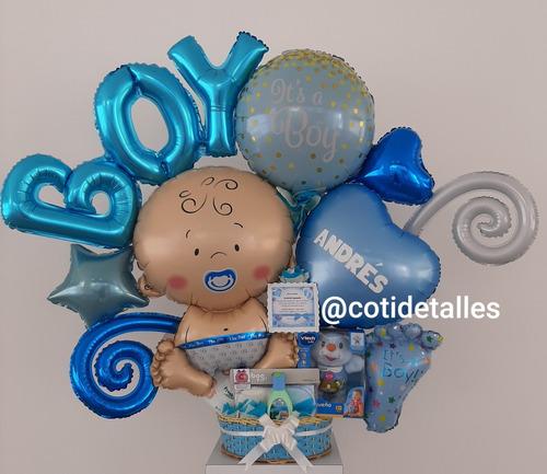 arreglos con globos bebés nacimiento bienvenida
