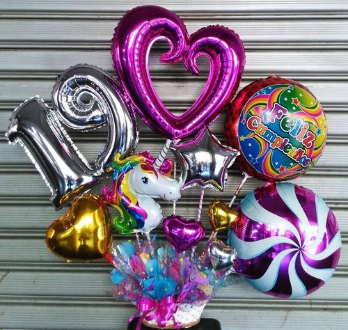 arreglos con globos flores peluches globos helio