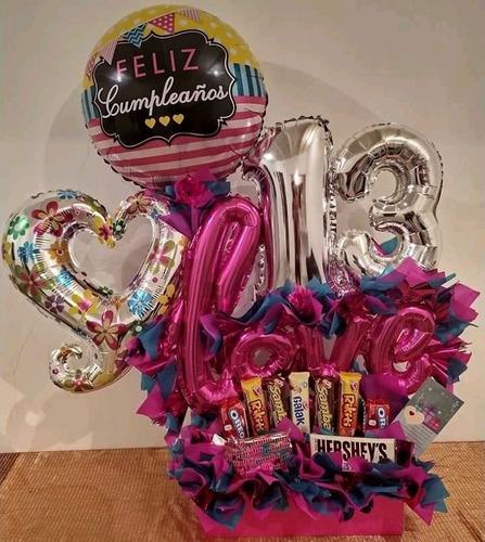 arreglos con globos personalizados regalos decoración