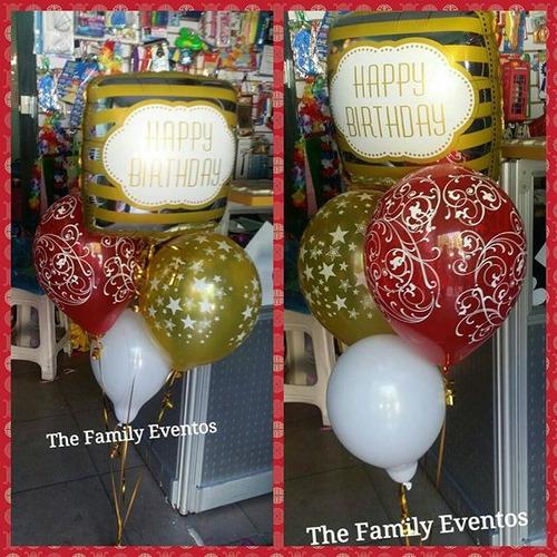 arreglos de globos con helio y todo en cumpleaños.
