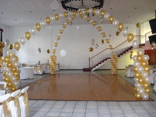arreglos decoración globos y telas, fiestas, eventos