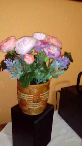 arreglos en flores artificiales de tela