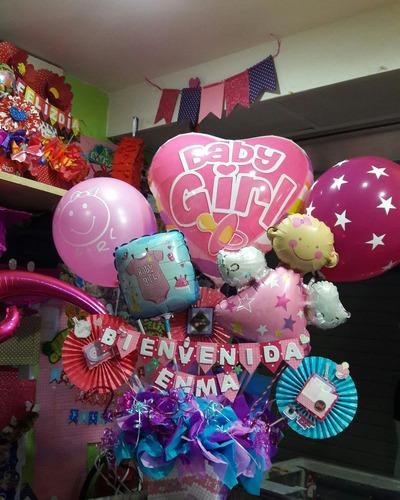arreglos en globos para nacimiento y baby shower