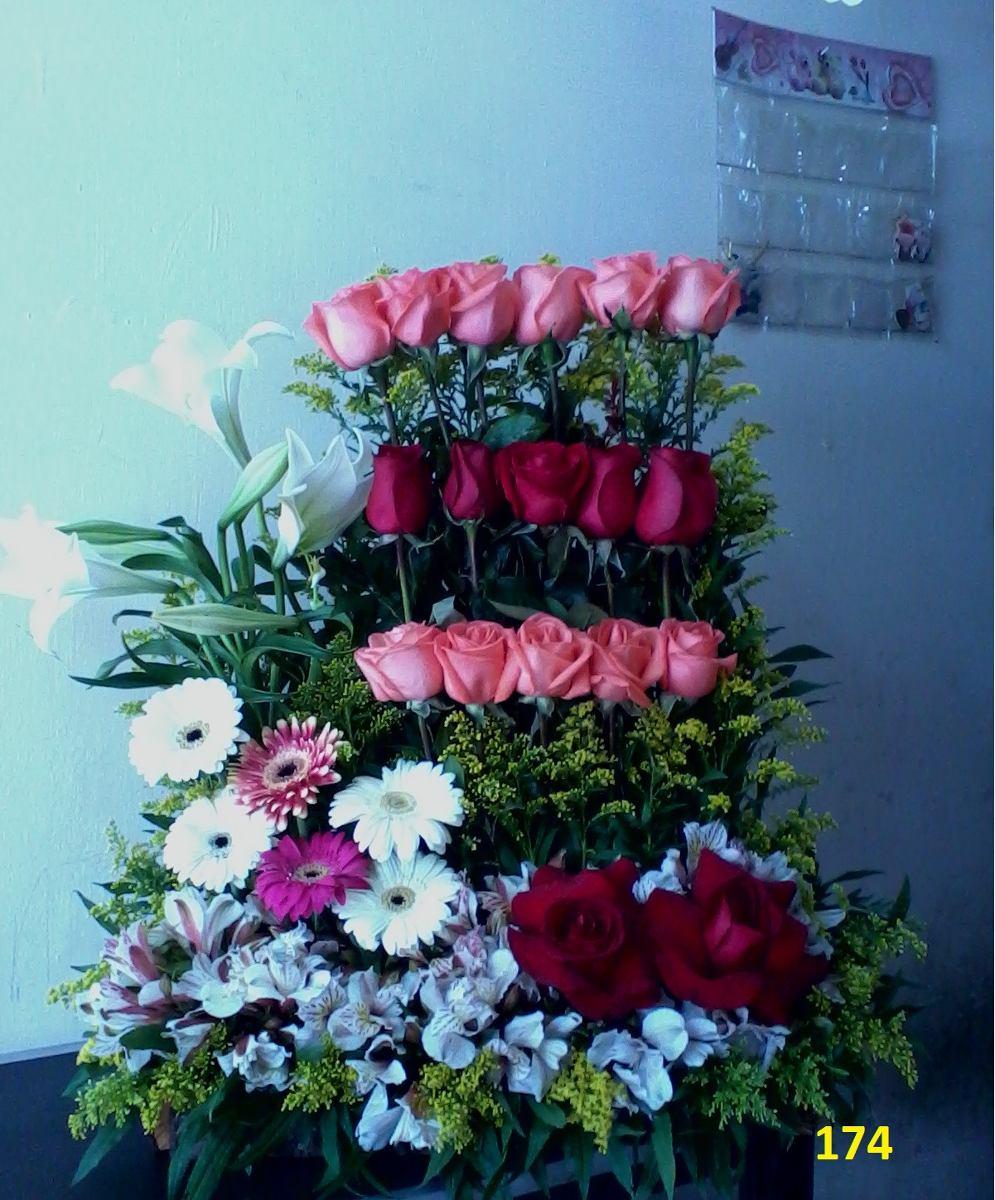 arreglos florales rosas grandes super oferta