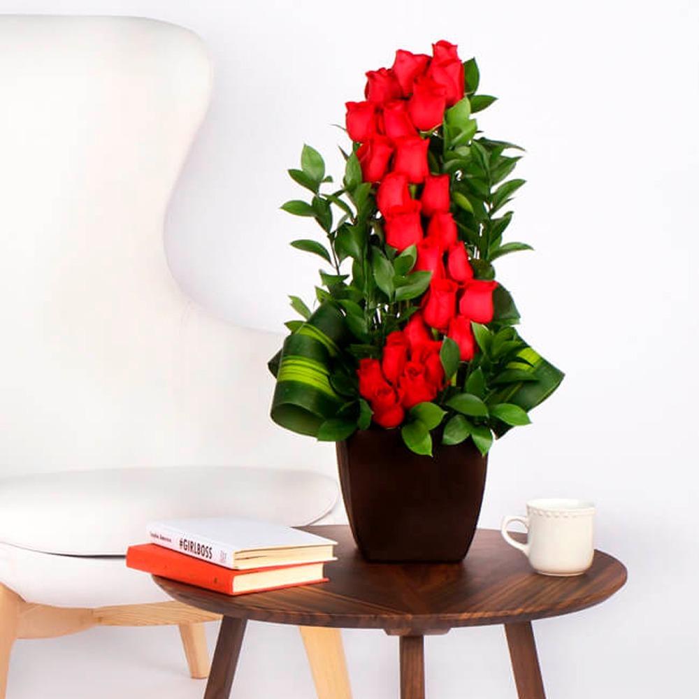 Arreglos Florales 24 Rosas Rojas Naturales Cdmx