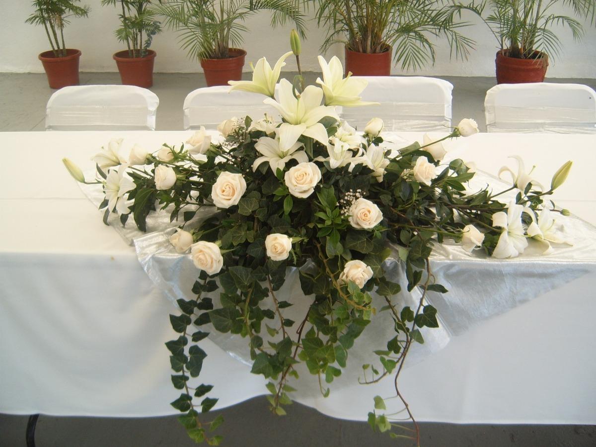 Arreglos Florales Centros De Mesa En Df Bautizo Boda Xv Años