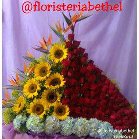 Arreglos Florales De 100 Rosas Super Oferta Bethel Madrid