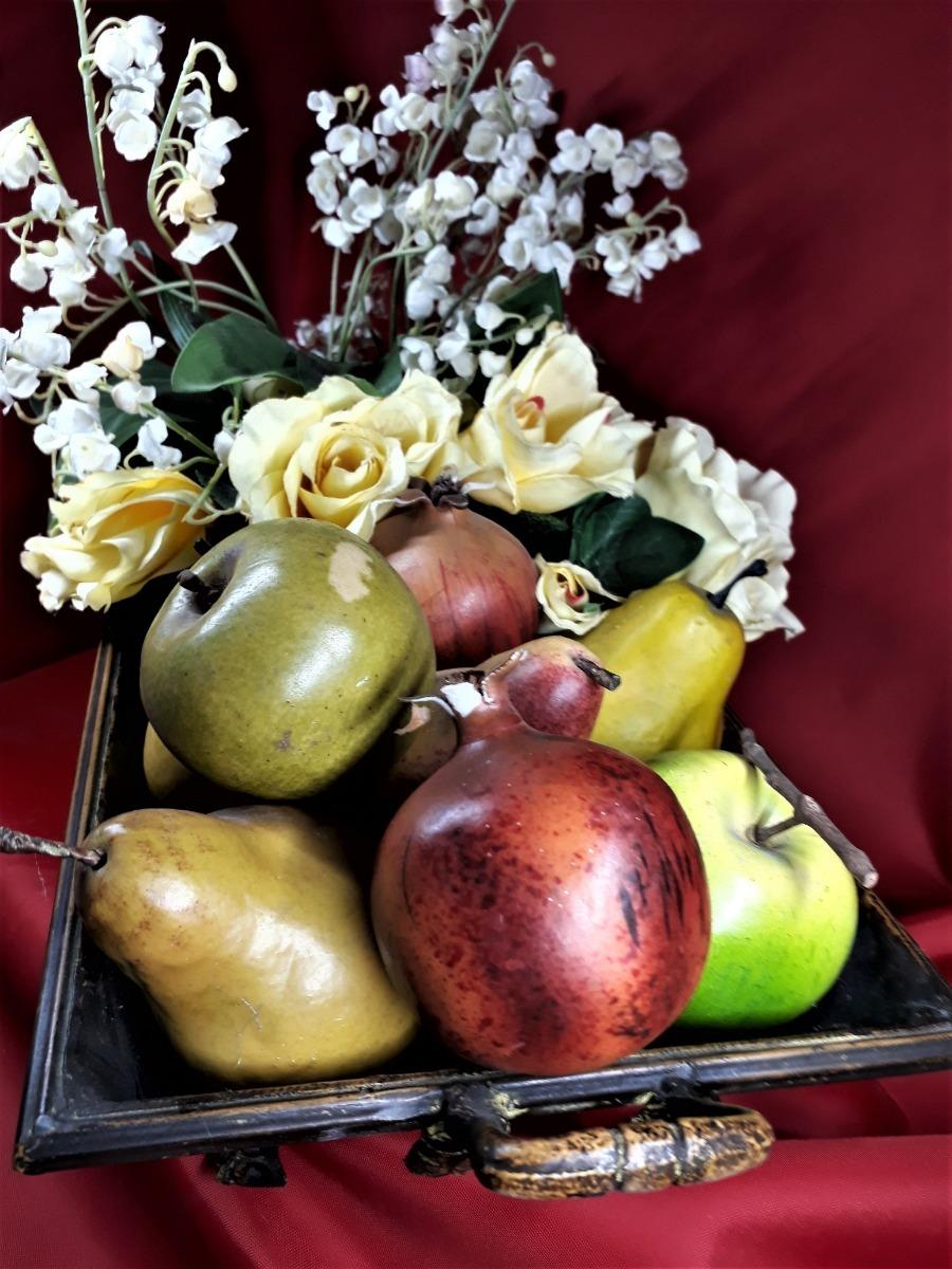 Arreglos Florales Frutales Artificiales 2pz