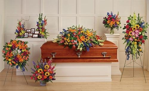 arreglos florales fúnebres - coronas, lagrimas, cruces y más