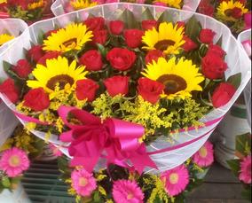 Arreglos Florales Rosas Y Girasoles Entrega A Domicilio Df