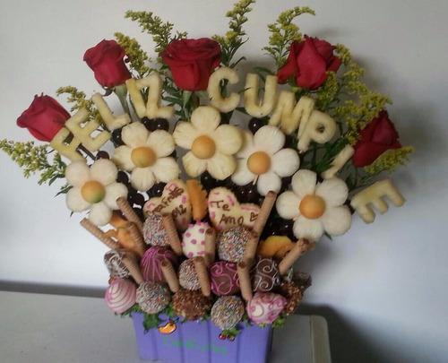 arreglos frutales creafrutas ramos flores/frutas con chocola