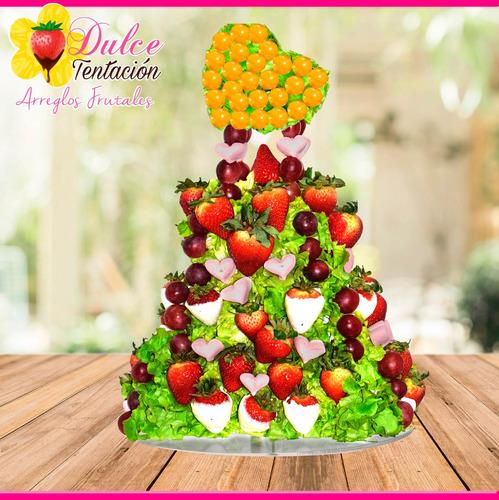 arreglos frutales fresas con chocolate personaliza evento #2