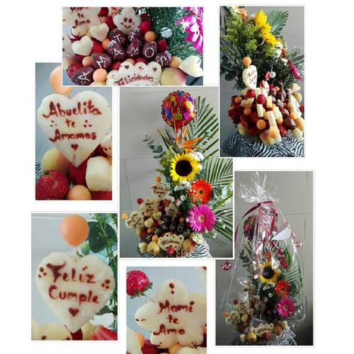 arreglos frutales, frutas, ramos, decofrutas, fresas