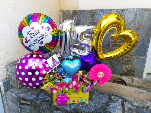 arreglos globos, flores,  golosinas...helio