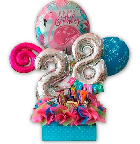 arreglos globos golosinas cumpleaños